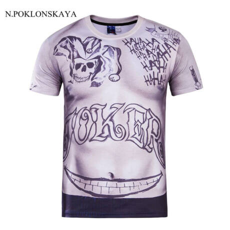 Öngyilkos Osztag Suicide Squad Joker jelmez kiegészítő - tetovált póló