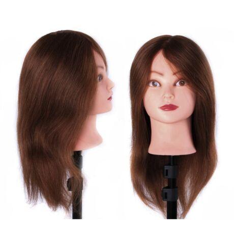 Fodrász, sminkes gyakorló babafej - 100% természetes hajjal