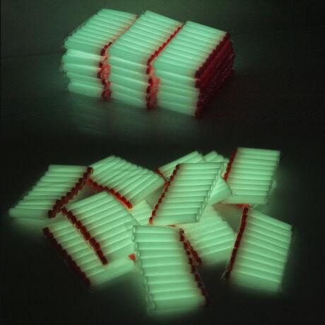 50 darabos szivacs játék töltény lőszer nerf csatákhoz - világító, flueroszkáló