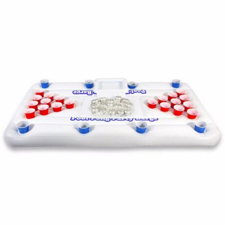 Felfújható sörpong sör ping-pong matrac, sörmatrac - fehér