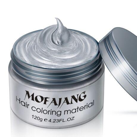 Mofajang hajszínező hajfestő wax hajfesték - ezüst
