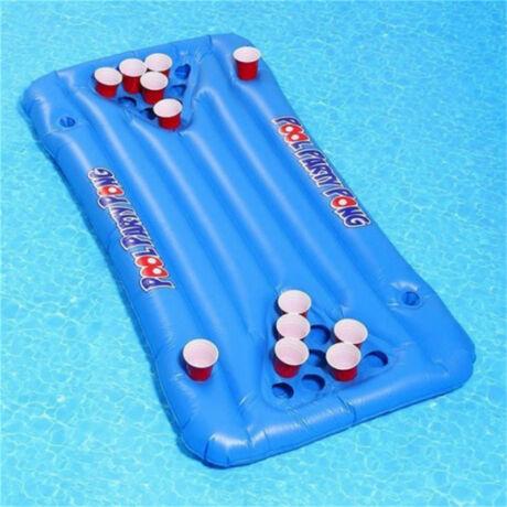 Felfújható sörpong sör ping-pong matrac, sörmatrac - kék
