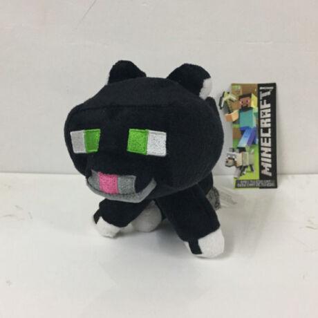 Minecraft plüss - Fekete ocelot párduc (ülő)