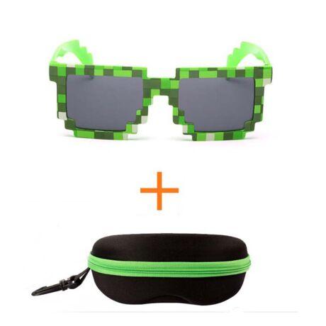 Minecraft zöld szemüveg napszemüveg + tok