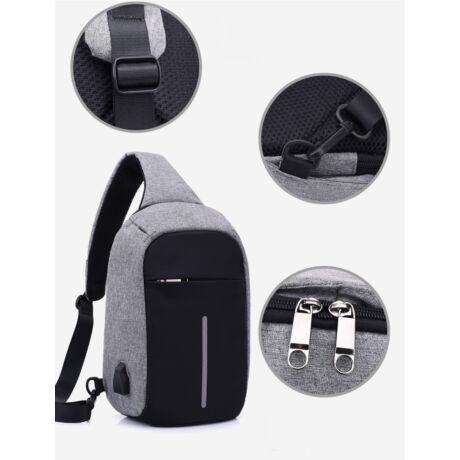 1ac19c0c71 Lopásgátló oldaltáska hátizsák biztonsági táska USB töltőporttal - 9.990 Ft