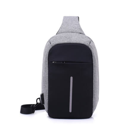 75135c2eb9 Lopásgátló oldaltáska hátizsák biztonsági táska USB töltőporttal ...
