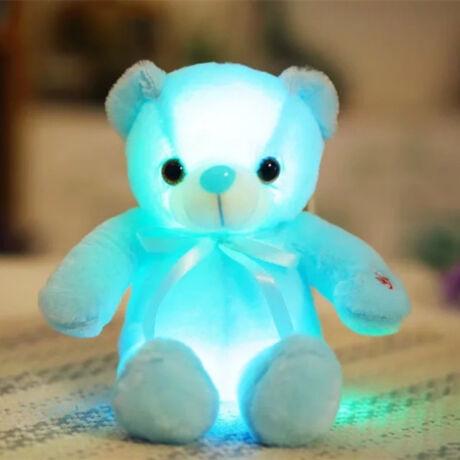 Nagy színes világító plüss medve LED Teddy maci - kék