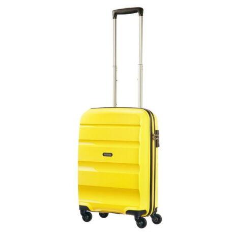 American Tourister Bon Air Spinner négy kerekes gurulós bőrönd (Wizzair, Ryanair kézipoggyász méret) sárga