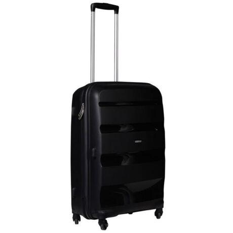 American Tourister Bon Air Spinner négy kerekes gurulós kemény fedeles bőrönd poggyász fekete
