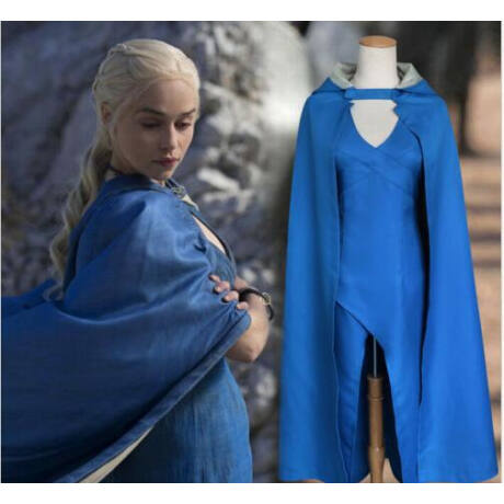 Game of Thrones Trónok Harca Daenerys Targaryen kék ruha női jelmez