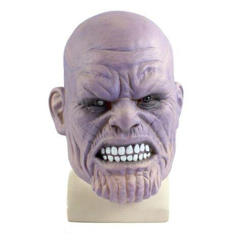 Avangers Infinity War Bosszúállók Végtelen háború Thanos halloween, farsangi latex gumi maszk