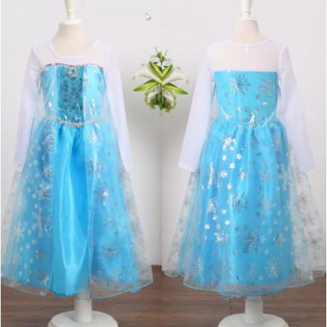 Frozen Elsa hercegnő, jégkirálynő gyerek, kislány jelmez szett