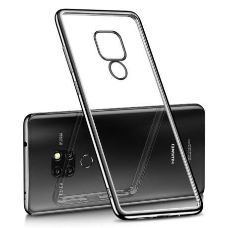 Huawei Mate 20 Pro tok - fekete karimás szilikon védőtok
