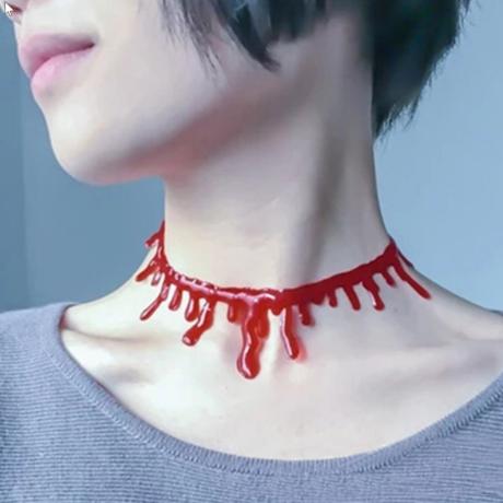 Véres nyak vágás nyaklánc halloweeni farsangi jelmez kiegészítő