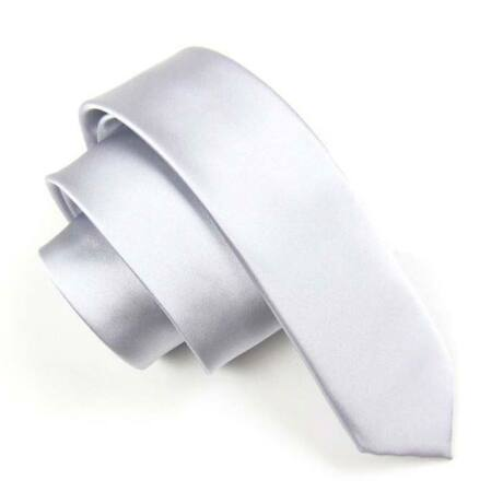 Keskenyített egyszínű vékony nyakkendő - ezüstszürke, szürke