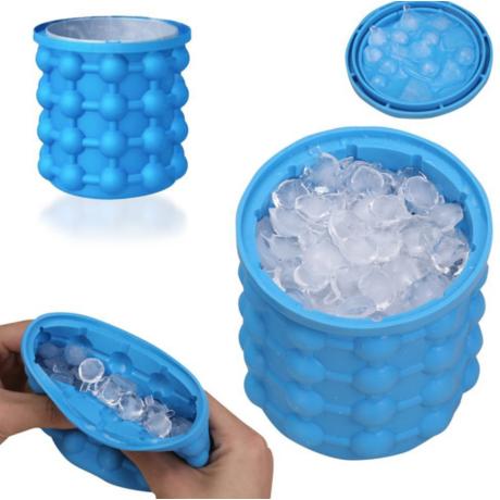 Ice Genie 2in1 szilikon jégkocka késztó és tartó pohár
