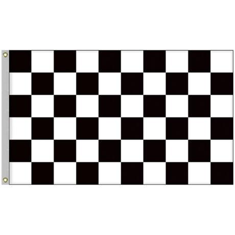 Kockás verseny lobogó, Forma-1, Gokart zászló 90x150cm