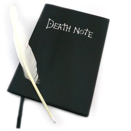 Death Note Halállista Ryuk halálisten figura asztali dísz