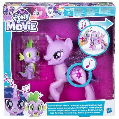 Hasbro My Little Pony Én kicsi pónim játékszett - A két barát, Twilight Sparkle hercegnő és Spike, a sárkány duettje