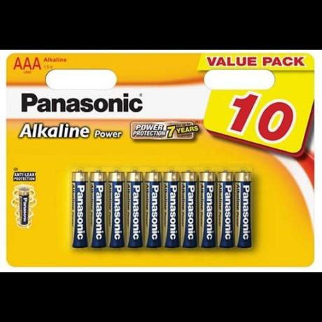 Panasonic AAA Alkaline Power LR03 Value Pack - 10db
