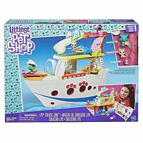 Hasbro Littlest Pet Shop LPS tengerjáró hajó 3 állattal