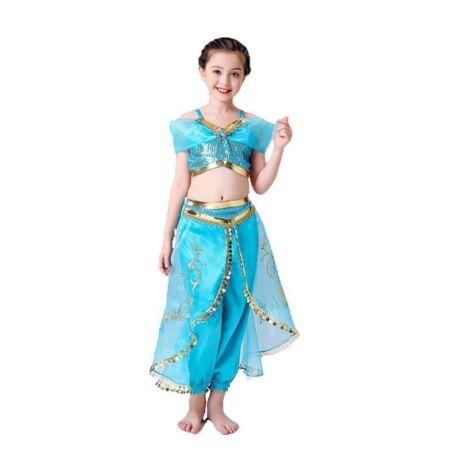Aladdin - Jasmine, Jázmin hercegnő halloween farsangi kislány jelmez szett