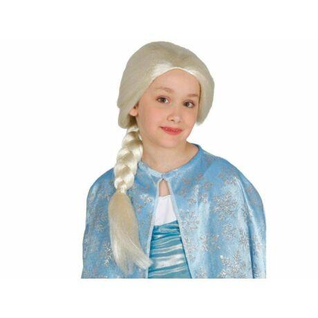 Frozen Jégvarázs Elsa hercegnő, jégkirálynő gyerek, kislány halloweeni farsangi jelmez kiegészítő - paróka