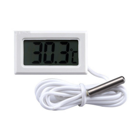 Beépíthető digitális hőmérő LCD kijelzővel - fehér