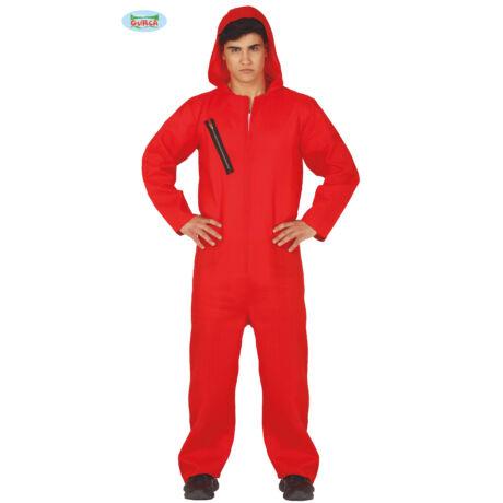 El Casa De Papel - Money Heist - A Nagy Pénzrablás halloween farsangi jelmez kiegészítő - piros overál (férfi)