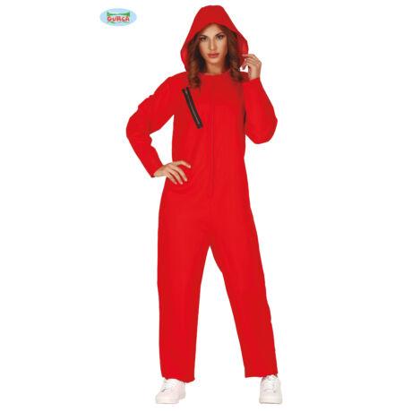 El Casa De Papel - Money Heist - A Nagy Pénzrablás halloween farsangi jelmez kiegészítő - piros overál (női)