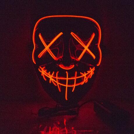 The Purge A bűn éjszakája LED világító halloween, farsangi maszk - PIROS