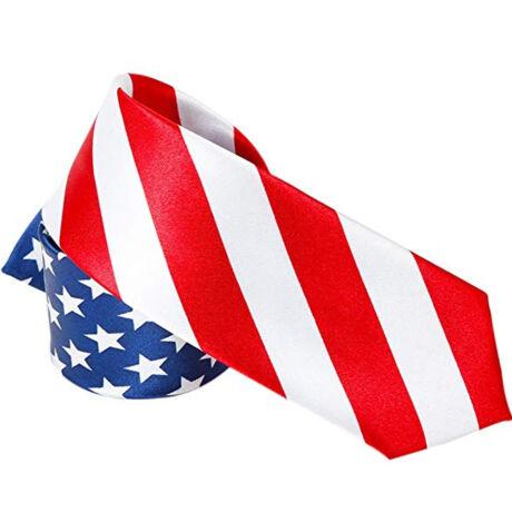 USA Amerikai zászló mintás slim nyakkendő