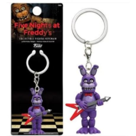 FNAF Five Nights At Freddy's kulcstartó - Bonnie nyúl gitárral (6cm)