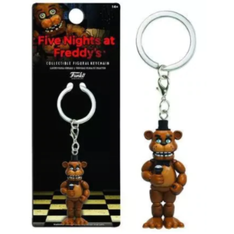 FNAF Five Nights At Freddy's kulcstartó - Freddy medve mikrofonnal (6cm)