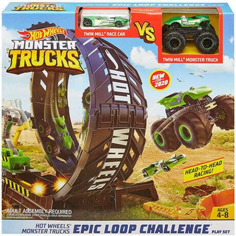 Mattel Hot Wheels Monster Trucks szörnyhurok pályaszett