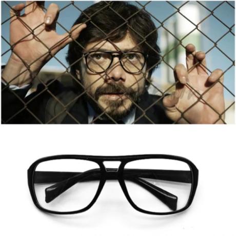 El Casa De Papel - Money Heist - A Nagy Pénzrablás halloween farsangi jelmez kiegészítő - Professzor szemüveg