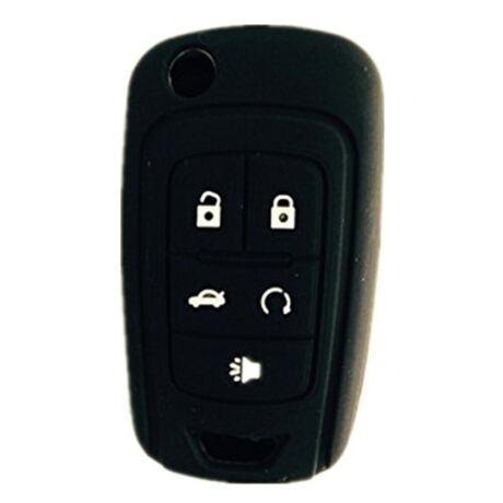 Chevrolet Volt, Opel Ampera 5 gombos kulcs szilikon tok - fekete