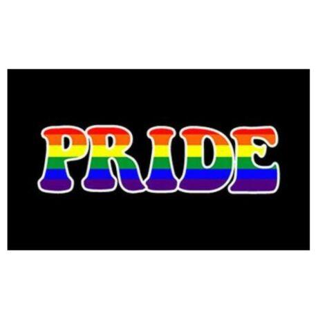LMBT szivárványzászló Budapest Pride feliratos zászló 90x150cm