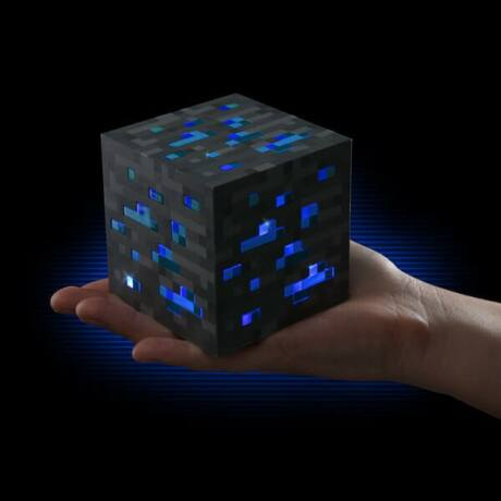 Minecraft alvós éjjeli lámpa - kék lazuritérc