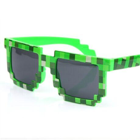 Minecraft zöld szemüveg napszemüveg