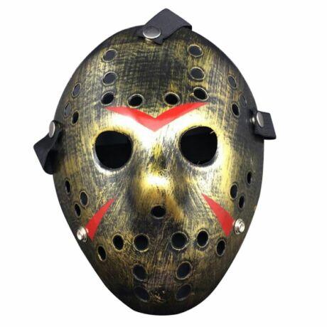 pentek 13 jason maszk halloween bronz