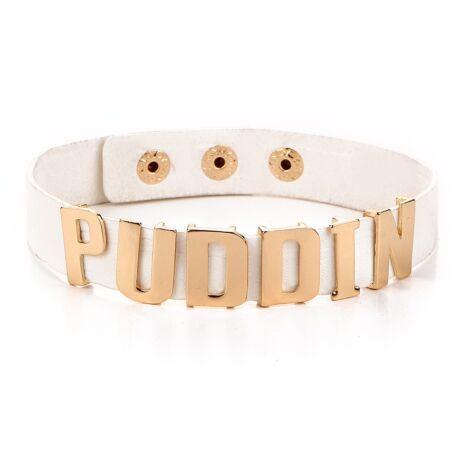 harley quinn jelmez kiegeszito puddin nyklanc nyakorv feher