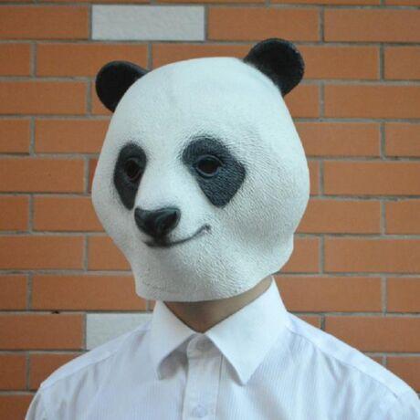 Panda halloween, farsangi, maszk