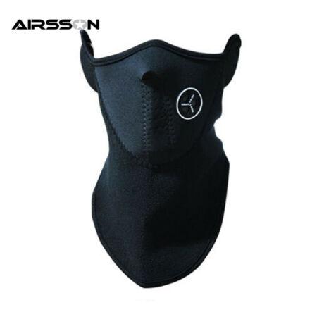 AIRSSON Motoros kerékpáros biciklis maszk- szűrős, téli - fekete