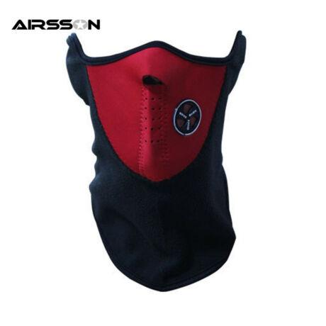 AIRSSON Motoros kerékpáros biciklis maszk- szűrős, téli - piros