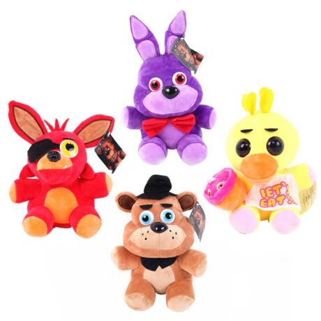 FNAF Five Nights At Freddy's plüss figura szett - 4 darab