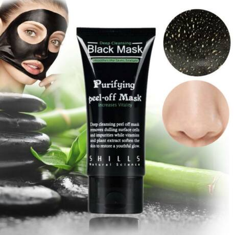 SHILLS BLACK mélytisztító, mitesszer és pattanás eltávolító fekete arcmaszk - 50ml