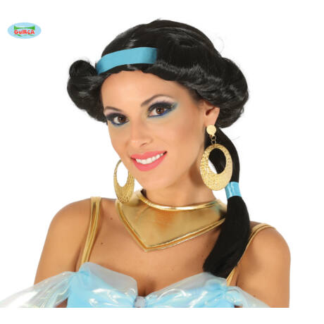 Aladdin - Jasmine, Jázmin hercegnő halloween farsangi jelmez kiegészítő - paróka