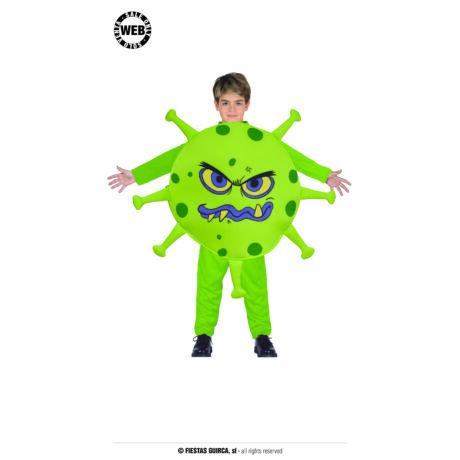Covid, coronovirus, koronavírus halloween farsangi jelmez (gyerek)