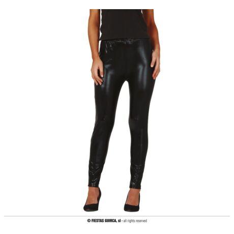 Fényes leggings - fekete